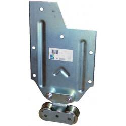 Ferrure de porte /à d/éplacement droit 75 kg 50x40-6 m/ètres Mantion Flot Rail tubulaire galva