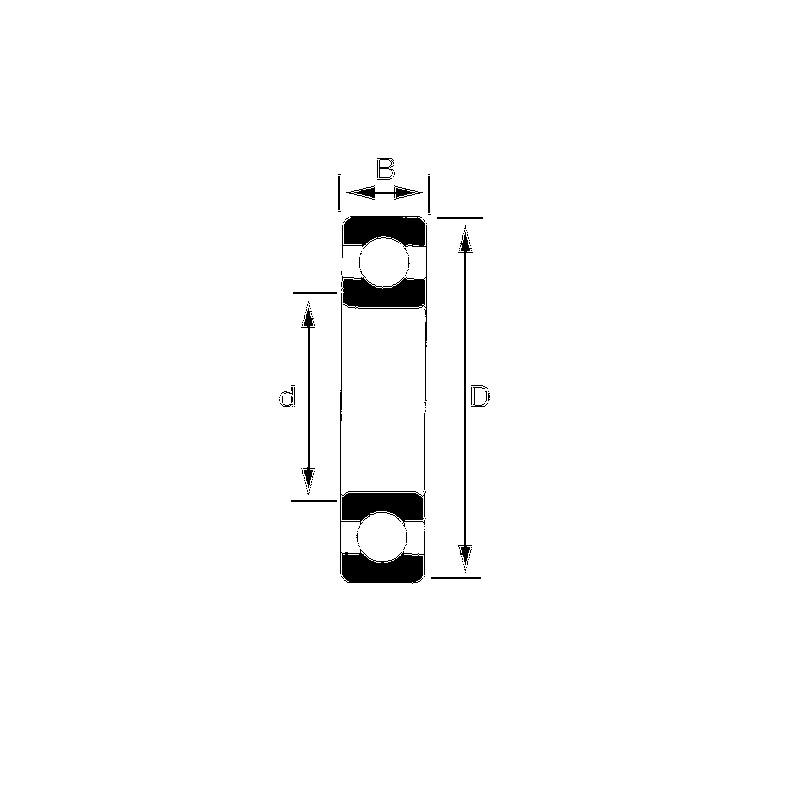ROULEMENT ETANCHE 20X42X12 6004 2RS INOX F.P