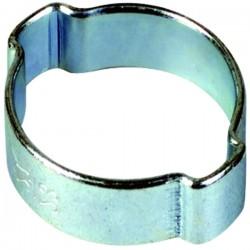 Collier 2 oreilles Ø extérieur du tuyau à serrer  5 à 7 mm