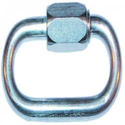 Maillon rapide acier zingue diamètre 6 mm