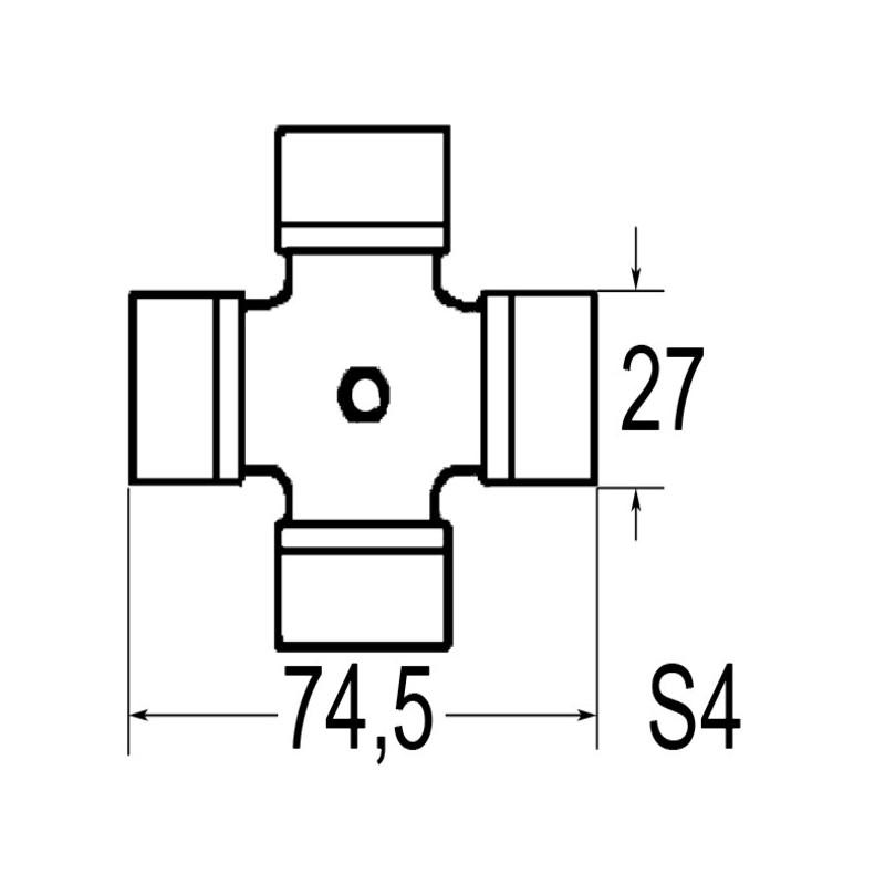 CROISILLON 27X74,5 SFT4120E 50H.OR.BYPY