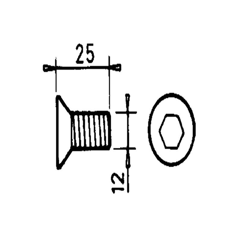 VIS TF 12X25 P-COUTEAU F1017 ADAPT.FAHR