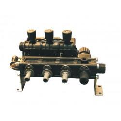 Vanne électrique 3 voies 4 tronc vanne régulatrice manuel