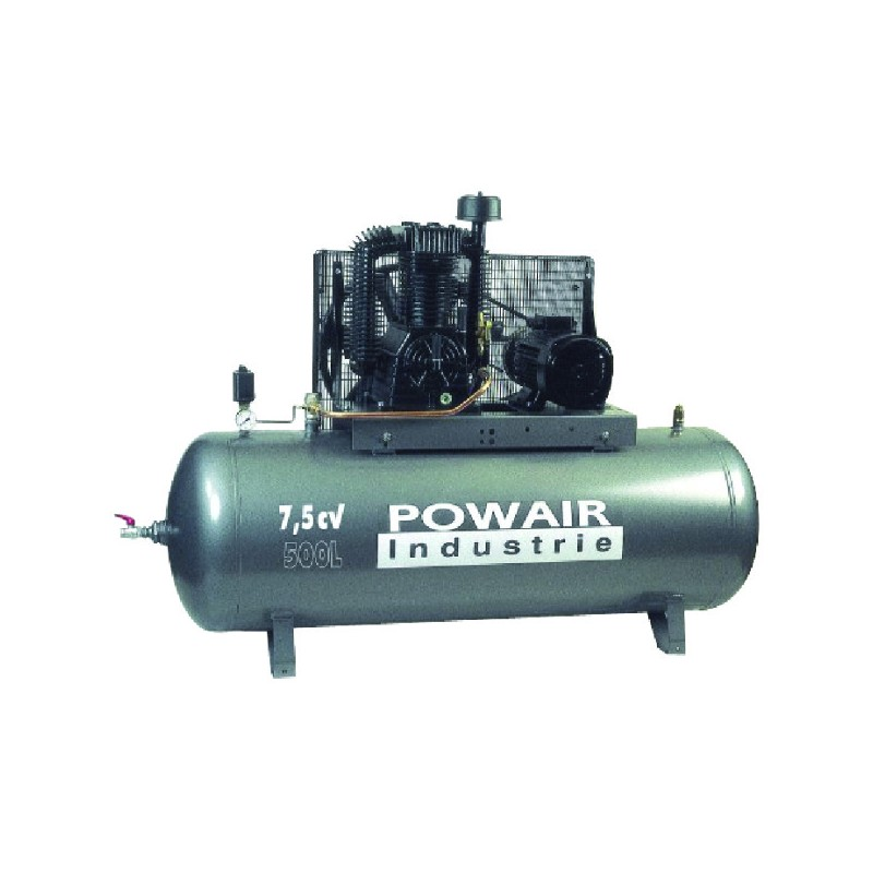 COMP. 7,5CV 500L BI-ETAGE FONTE 52M3 POWER
