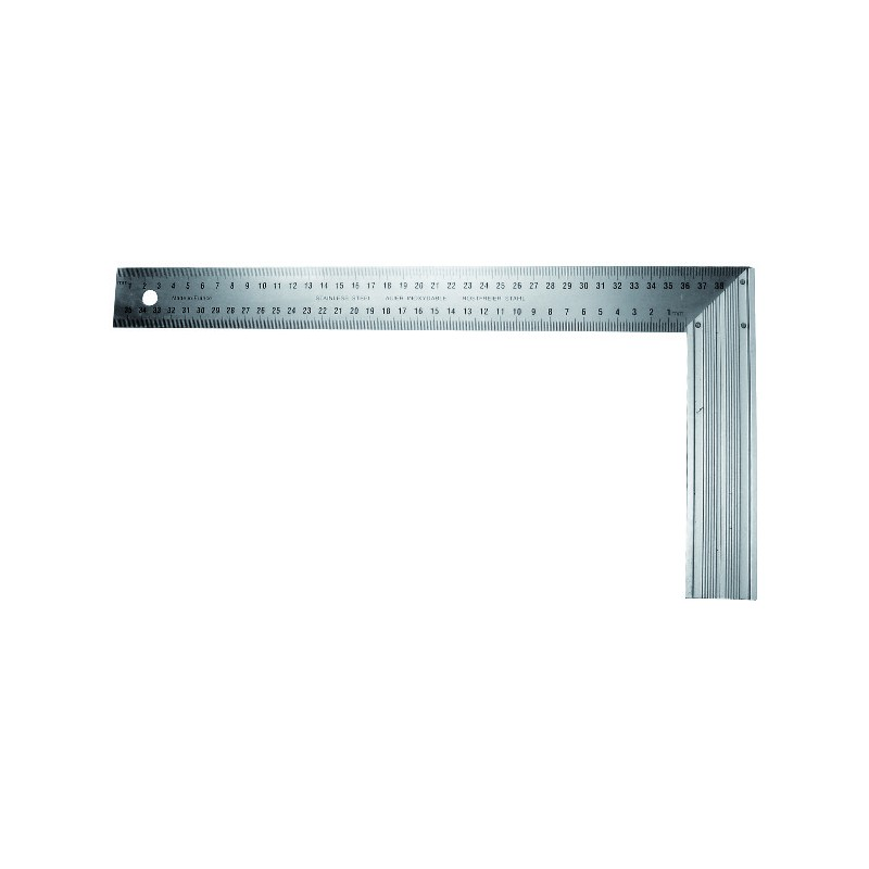 EQUERRE DROITE ET ONGLET INOX 400MM