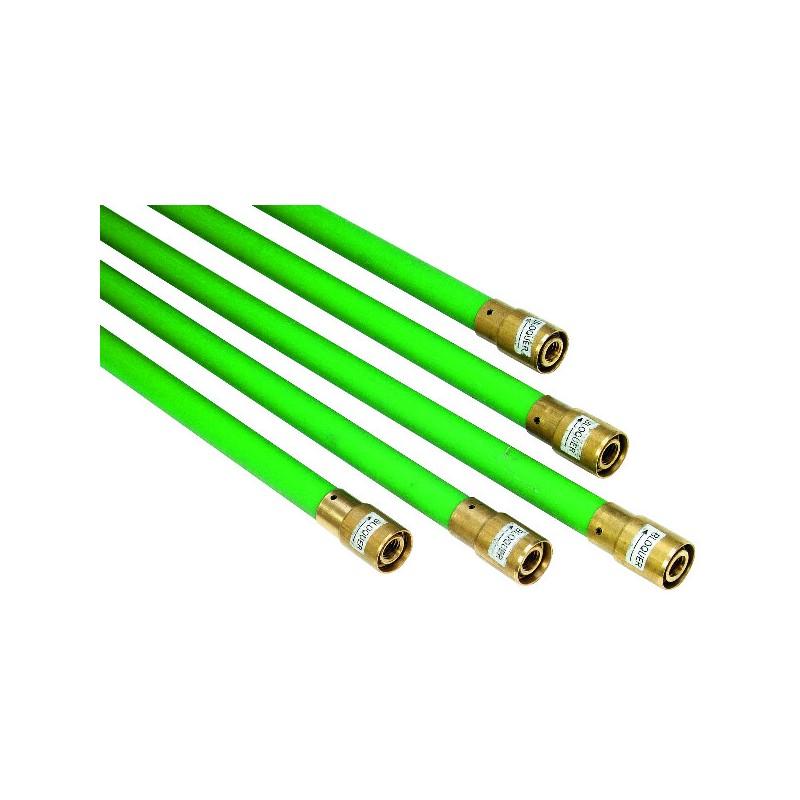 Canne de ramonage 17 mm avec embout acier m12 longueur 1 4 - Canne de ramonage ...