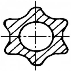Pointe carbure droite / Naud 03054502d