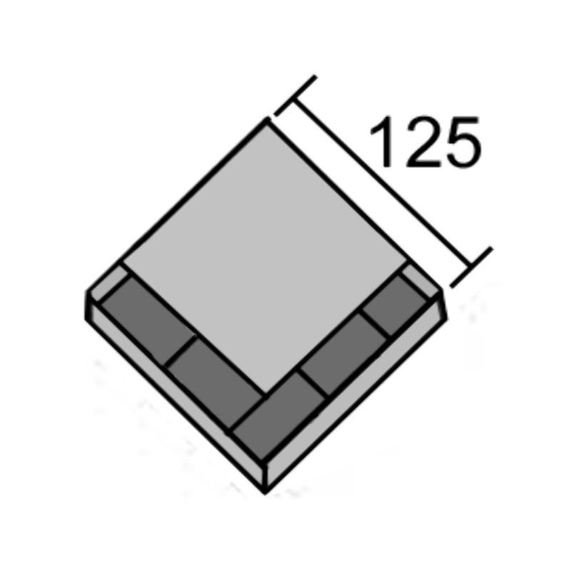 PIECE CRB UNIVERSELLE 125X125X14 / DOUBLE C?