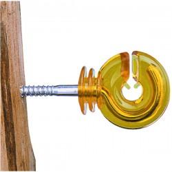 Sachet 25 isolateurs annulaire jaune
