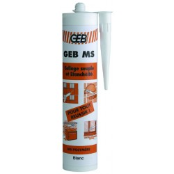 Mastic-colle GEB ms cartouche 280ml blanc