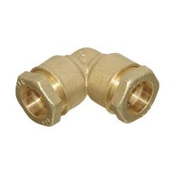 Coude laiton tuyau 25 mm à serrage extérieur