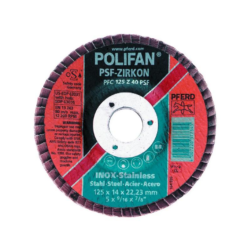 "DISQUE D125 A SURFACER ""POLIFAN"" GRAINS 40 Z+"