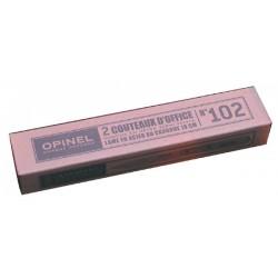 Couteaux d'office Opinel Lame carbone 100 mm Manche en hêtre verni (x2)