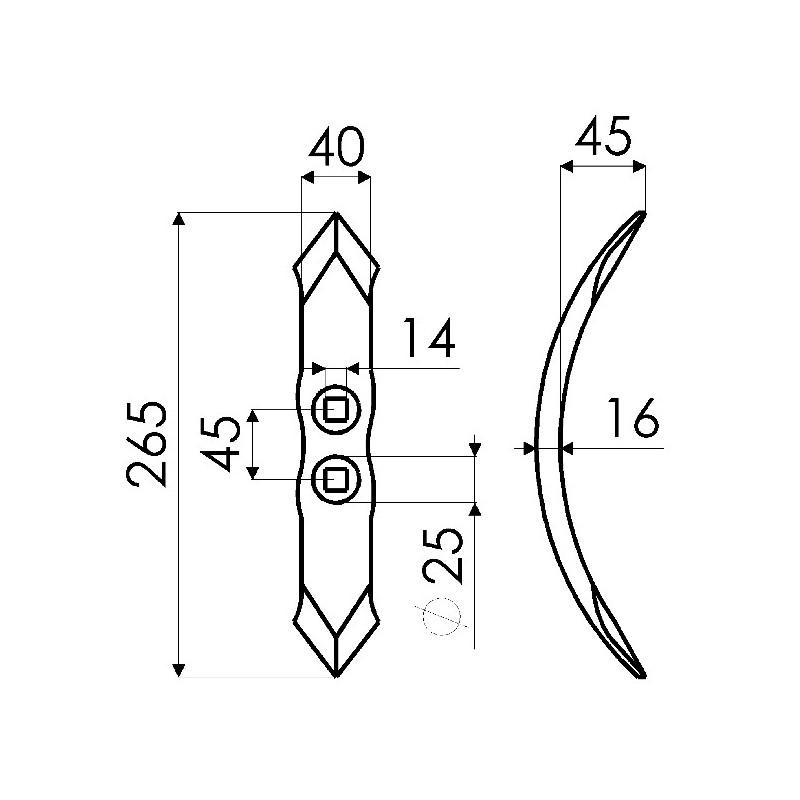 SOC 6323 EPAIS 40X16X265 E.A.45 QPS