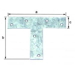 Platine en t 110x30x140x2 mm galvanisé Senzimer