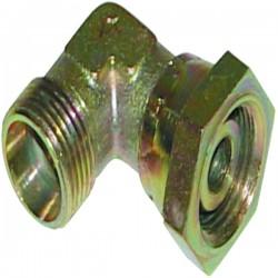 Raccord hydraulique coudé mâle-femelle CF06 DN série L nu