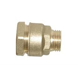 Raccord laiton mâle 20x27 tuyau 27 à serrage ext.