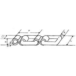 Chaine plate 100x12 le mètre