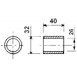 Barrette de fond mouvant longueur 530 mm Jeantil