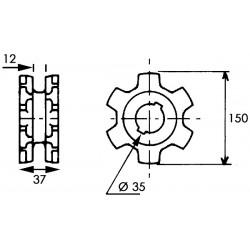 Noix entrainement al35 2CL10 chaine 10 or audureau
