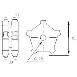Noix de 10x30 mm al40 Clavette de12