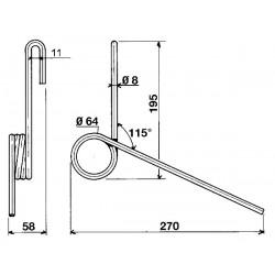 Ressort adaptable arrière 8 Nodet fkx0385 Sulky 909074