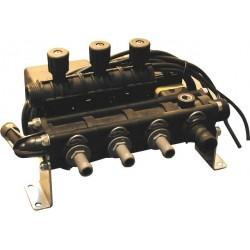Vanne électrique 3 voies 3 tronc vanne régulatrice électrique