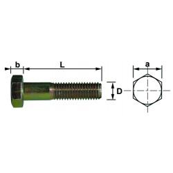 Vis tête hexagonale 6x25 mm Bichromate iso4014 din931 (par 200)