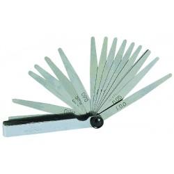 Jauge d'épaisseur acier 250 mm 20 lamelles de 0,05 mm à 1 mm.