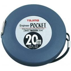 Mètre engineer pocket 20mx10 mm ABS Ruban acier