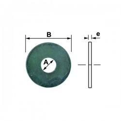 Rondelle extra large zingué diamètre 6 mm nfe 25513 (boite)