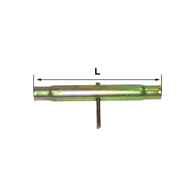 TUBE LG 140 M30X3 POUR BARRE DE POUSSEE