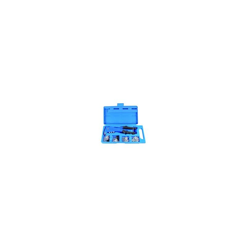 Coffret de pince à riveter avec rivets - 121 pièces