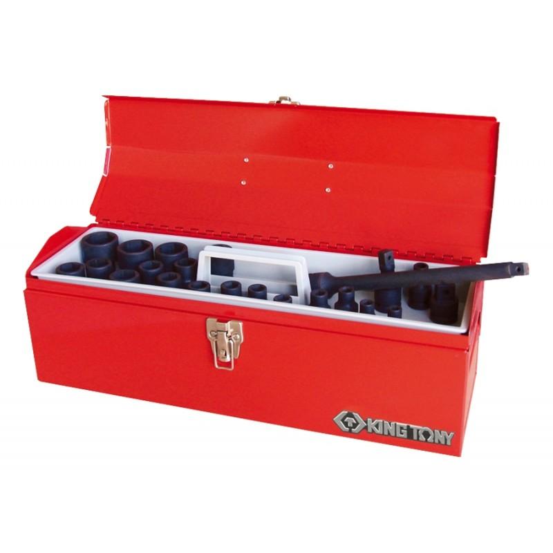 """Caisse à outils de douilles 1/2"""" à choc métriques et accessoires - 2"""