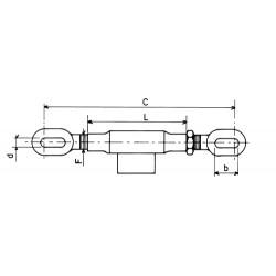Tendeur pour stabilisateur diamètre 22 mm l280