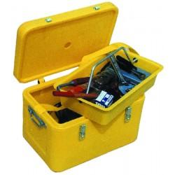 Coffre à outils 50 litres 500x330x330 mm Livré avec sangle de transport + porte outils amovible