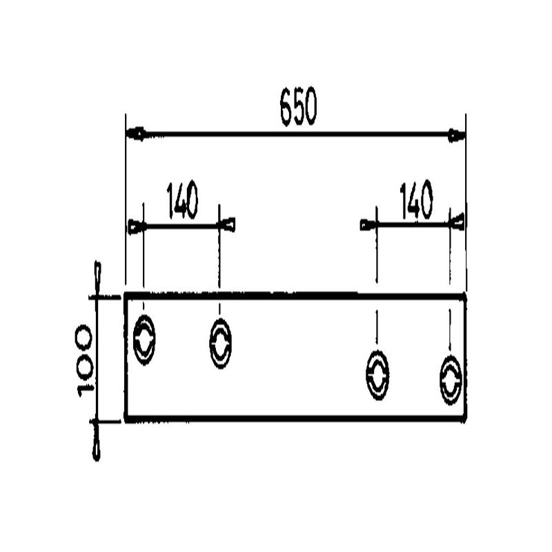 C/SEP GAUCHE L650MM H1231653 AD.KRONE