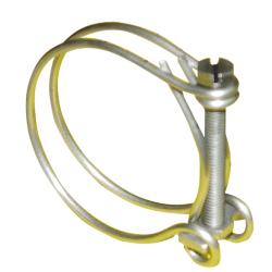 Collier double fil inox en poussant diamètre 20 à 23 mm