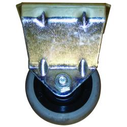 Roue fixe dimensions 60x24 mm nsl EA 38x38 ca.gris 50kgs