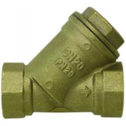 """Filtre bronze 800 microns filetage 1"""" Femelle/Femelle"""