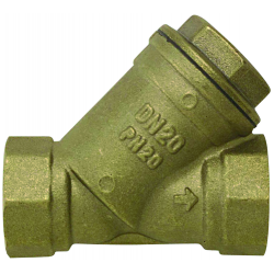 """Filtre bronze 800 microns filetage 3/4"""" Femelle/Femelle"""