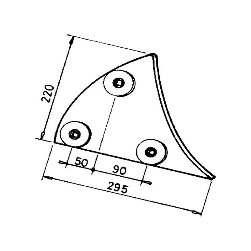 ETRAVE DE VERSOIR GAUCHE M3451005 AD.LEMKEN