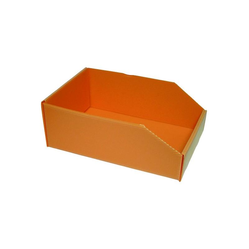 BOITE ORANGE PLASTIBOX 280X180X105/70