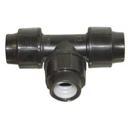 Raccord pp en TE 90 à joint diamètre 25 mm
