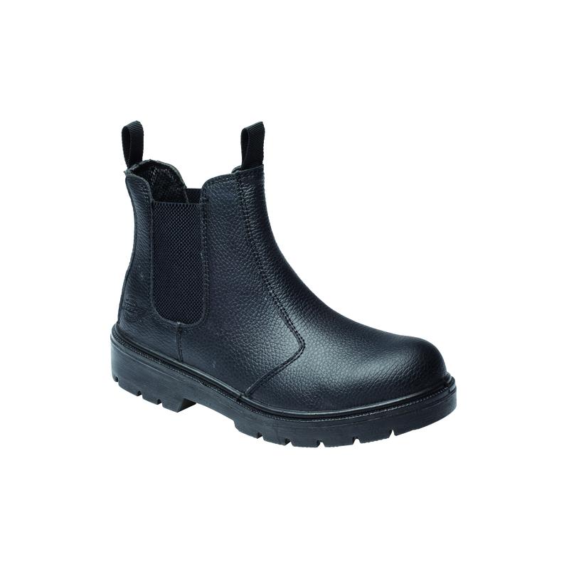 Boots de sécurité en cuir noir Dealer