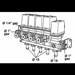 Vanne électrique 3 voies 4 tronc vanne régulatrice électrique