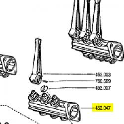Corps d'obturateur nu pour 3 leviers Berthoud BED45304