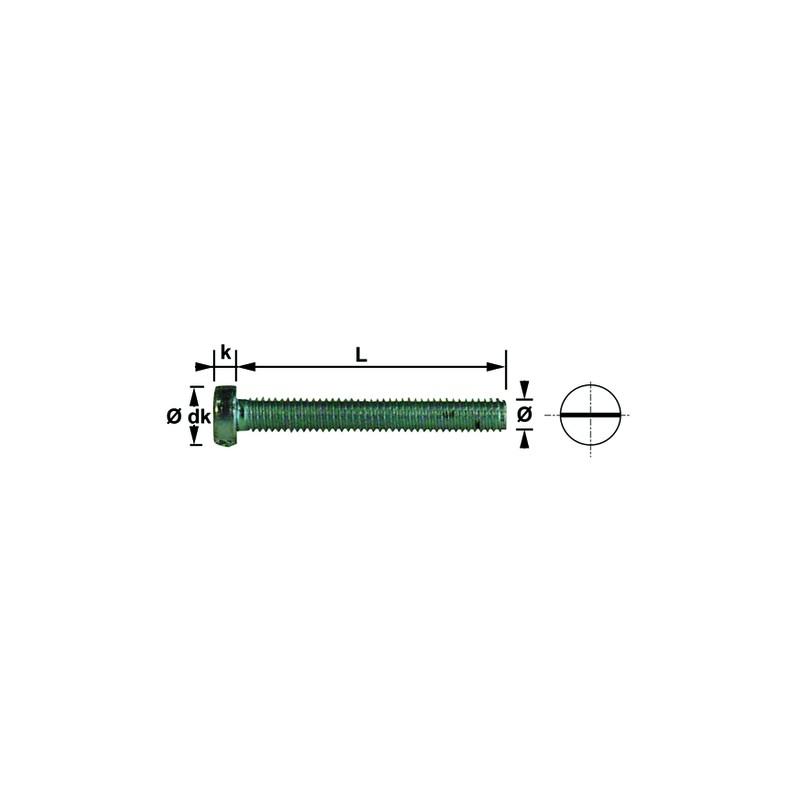VIS METAUX T. CYCL. FEND 6X70 ZN DIN84 (100)