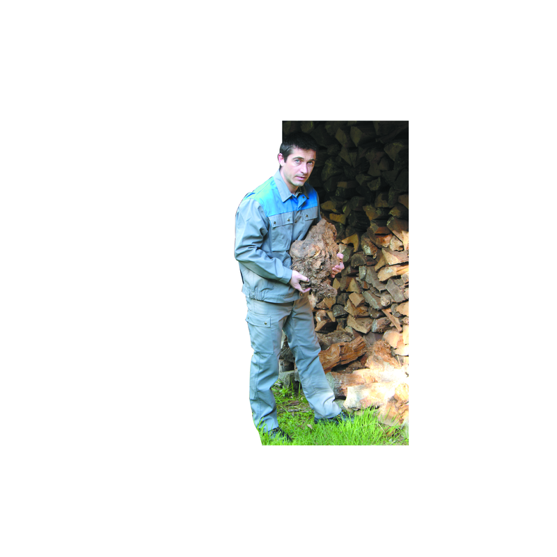 BLOUSON DE TRAVAIL TERGAL GRIS/BLEU T.2 44/46