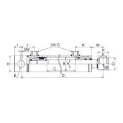 Vérin hydraulique double effet standard 30x50 mm C600 EAf 800 (3056)